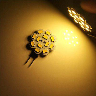 10PCS G4 3.5W LED Bi-Pin Luzes 12LEDS SMD 5730 300-350LM DC12V Lâmpada Decorativa