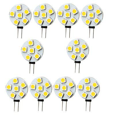 10PCS G4 2W LED Bi-Pin Lights 6LEDS SMD5050 150-200LM DC12V Decorative LampLED Bi-pin Lights<br>10PCS G4 2W LED Bi-Pin Lights 6LEDS SMD5050 150-200LM DC12V Decorative Lamp<br><br>Color Temperature or Wavelength: 6000 - 6500K (White) ; 2800 - 3200K (Warm White)<br>Connection: G4<br>Connector Type: G4<br>Dimmable: No<br>Features: Decorative, Infrared Sensor<br>Initial Lumens ( lm ): 150-200<br>LED Beam Angle: 180 Degree<br>LED Quantity: 6<br>LED Type: SMD 5050<br>Lifetime ( h ): More Than  30000<br>Light Source Color: White,Warm White<br>Material: PCB<br>Package Contents: 10 x LED BI-PIN Lamp<br>Package size (L x W x H): 10.00 x 8.00 x 1.00 cm / 3.94 x 3.15 x 0.39 inches<br>Package weight: 0.0200 kg<br>Primary Application: Living Room,Bathroom,Bedroom,Kitchen,Home or Office,Children Room,Living Room or Dining Room,Hallway or Stairwell,Storage Room or Utility Room,Garage or Carport,Residential,Everyday Use,Childrens Roo<br>Product size (L x W x H): 3.70 x 2.30 x 0.50 cm / 1.46 x 0.91 x 0.2 inches<br>Product weight: 0.0020 kg<br>Quantity: 10pcs<br>Type: LED Bi-pin Lights<br>Voltage: 12V DC<br>Wattage: 2W
