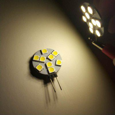 G4 3.5W LED Bi-Pin Luzes 9LEDS SMD5050 300 - 350LM Lâmpada Decorativa DC12V 10PCS