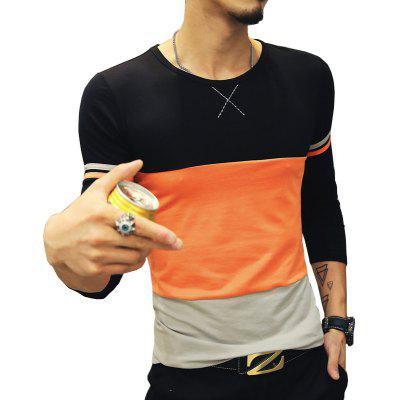 Men Stitched Long Sleeves T-ShirtsMens T-shirts<br>Men Stitched Long Sleeves T-Shirts<br><br>Collar: Round Neck<br>Fabric Type: Broadcloth<br>Material: Cotton, Polyester<br>Package Contents: 1 x T-Shirt<br>Pattern Type: Patchwork<br>Sleeve Length: Full<br>Style: Casual<br>Weight: 0.2400kg