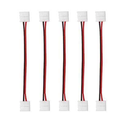 ZDM  8 / 10mm 2 Pin Single Color Waterproof Both Ends LED Strip Connector Line 5PCS