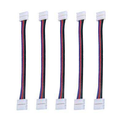 ZDM LED Connector Cables 10mm 4 Pin 5050RGB Waterproof Both Ends Strip Linkers 5PCS