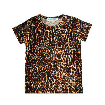 SOSOCOER Kids Clothes Set Leopard Print Short Sleeved T - Shirts and Cross - Printed Trousers Two Piecesbaby clothing sets<br>SOSOCOER Kids Clothes Set Leopard Print Short Sleeved T - Shirts and Cross - Printed Trousers Two Pieces<br><br>Brand: SOSOCOER<br>Closure Type: Pullover<br>Collar: Round Neck<br>Gender: Unisex<br>Material: Cotton<br>Package Contents: 1 x T-shirt, 1 x Pair of Pants<br>Pattern Style: Leopard<br>Season: Summer<br>Sleeve Length: Short<br>Sleeve Style: Regular<br>Style: British<br>Thickness: General<br>Weight: 0.1800kg