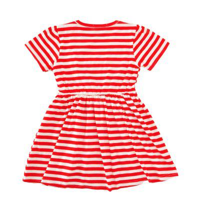 SOSOCOER Girls Dresses Fashionable Short Sleeved Red Striped Love SkirtGirls dresses<br>SOSOCOER Girls Dresses Fashionable Short Sleeved Red Striped Love Skirt<br><br>Brand: SOSOCOER<br>Dresses Length: Knee-Length<br>Embellishment: Appliques<br>Material: Cotton<br>Neckline: Round Collar<br>Package Contents: 1 x Dress<br>Pattern Type: Heart<br>Season: Summer<br>Silhouette: A-Line<br>Sleeve Length: Short Sleeves<br>Style: British<br>Weight: 0.2200kg<br>With Belt: No