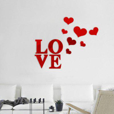 Diy Mirror Effect Love and Heart Shape Wall Stickers Home Decoration 11pcsWall Stickers<br>Diy Mirror Effect Love and Heart Shape Wall Stickers Home Decoration 11pcs<br><br>Function: Decorative Wall Sticker<br>Material: PMMA<br>Package Contents: 11 x Wall Stickers<br>Package size (L x W x H): 20.00 x 10.00 x 2.00 cm / 7.87 x 3.94 x 0.79 inches<br>Package weight: 0.0500 kg<br>Product weight: 0.0440 kg<br>Quantity: 1 Set<br>Subjects: Fashion,Letter,Mirror,Shape<br>Suitable Space: Living Room,Bathroom,Bedroom,Office,Hotel,Cafes,Kids Room,Hallway,Kids Room,Study Room / Office,Girls Room<br>Type: Mirror Wall Sticker