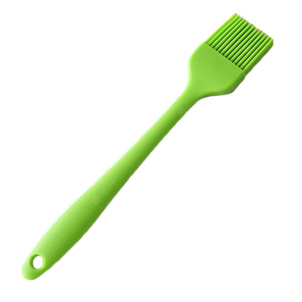 Heat Resistant Silicone Pastry Basting Grill BBQ Barbecue Cooking Oil Brush 8 Inches Green