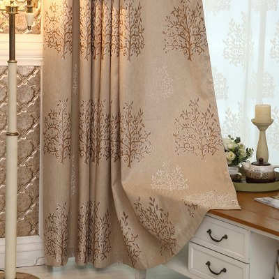European Minimalist Style Living Room Bedroom Jacquard Curtains Grommet 2PCSWindow Treatments<br>European Minimalist Style Living Room Bedroom Jacquard Curtains Grommet 2PCS<br><br>Crafts: Jacquard<br>Curtain Pattern: Floral<br>Curtain Style: European Style<br>Curtain Type: Curtains Drapes<br>Package Contents: 2 x Curtain<br>Package size (L x W x H): 40.00 x 21.00 x 9.00 cm / 15.75 x 8.27 x 3.54 inches<br>Package weight: 1.7000 kg<br>Top Construction: Grommet Top<br>Type: Curtain