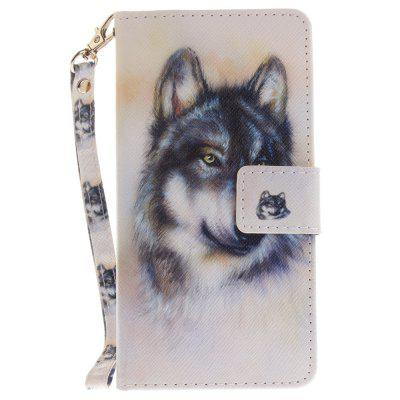 Cover Case for Samsung Galaxy A5 2016(A510) Wolf PU+TPU Leather with Stand and Card Slots Magnetic Closure new lone wolf and cub vol 5