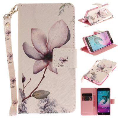 Cover Case for Samsung Galaxy A5 2016(A510) Magnolia PU+TPU Leather with Stand and Card Slots Magnetic Closure
