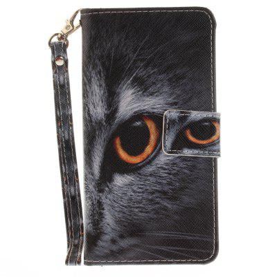 Cover Case for Samsung Galaxy A5 2016(A510) Half Face of Cat PU+TPU Leather with Stand and Card Slots Magnetic Closure a cat a hat and a piece of string