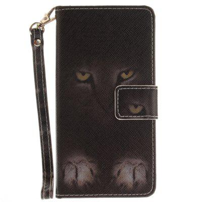 Cover Case for Samsung Galaxy A5 2016(A510) Mystery Cat PU+TPU Leather with Stand and Card Slots Magnetic Closure cover case for huawei p10 lite half a face of a cat pu tpu leather with stand and card slots magnetic closure