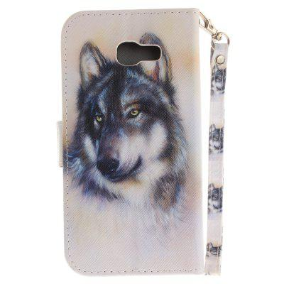 Cover Case for Samsung Galaxy A5 2017(A520) Wolf PU+TPU Leather with Stand and Card Slots Magnetic Closure new lone wolf and cub vol 5