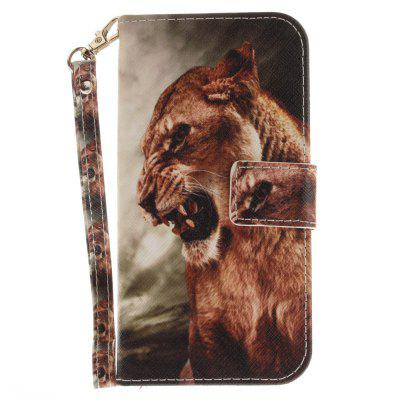 Cover Case for Samsung Galaxy A5 2017(A520) A Male Lion PU+TPU Leather with Stand and Card Slots Magnetic Closure cover case for huawei p10 lite half a face of a cat pu tpu leather with stand and card slots magnetic closure