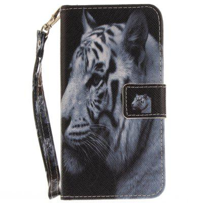 Cover Case for Samsung Galaxy J3 2016 (J310) The White Tiger PU+TPU Leather with Stand and Card Slots Magnetic Closure cover case for samsung galaxy s8 young eagles pu tpu leather with stand and card slots magnetic closure