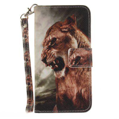 Cover Case for Samsung Galaxy J3 2016 (J310) A Male Lion PU+TPU Leather with Stand and Card Slots Magnetic Closure cover case for samsung galaxy s8 young eagles pu tpu leather with stand and card slots magnetic closure