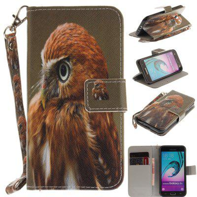 Cover Case for Samsung Galaxy J3 2016 (J310) Young Eagles PU+TPU Leather with Stand and Card Slots Magnetic Closure