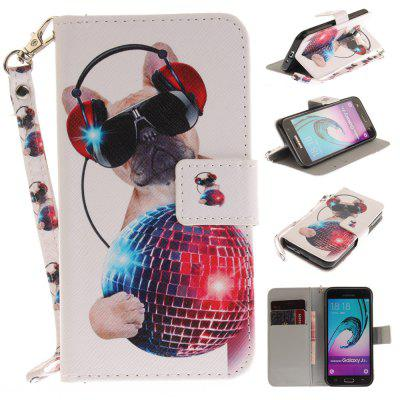 Cover Case for Samsung Galaxy J3 2016 (J310) Fashion Dog PU+TPU Leather with Stand and Card Slots Magnetic Closure
