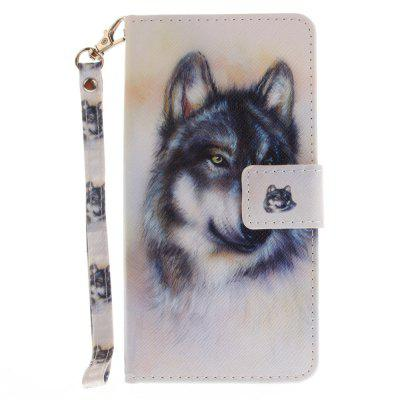 Cover Case for Samsung Galaxy J5 2017 Wolf PU+TPU Leather with Stand and Card Slots Magnetic Closure cover case for samsung galaxy s8 young eagles pu tpu leather with stand and card slots magnetic closure