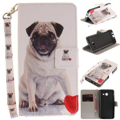 Cover Case for Samsung Galaxy J5 2017 Pug PU+TPU Leather with Stand and Card Slots Magnetic Closure