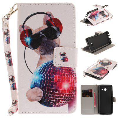 Cover Case for Samsung Galaxy J5 2017 Fashion Dog PU+TPU Leather with Stand and Card Slots Magnetic Closure