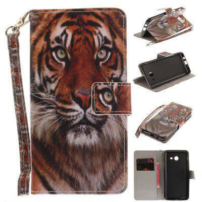 Cover Case for Samsung Galaxy J5 2017 Manchurian Tiger PU+TPU Leather with Stand and Card Slots Magnetic Closure