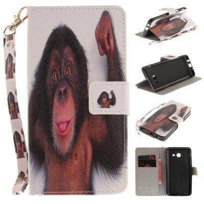 Cover Case for Samsung Galaxy J5 2017 Monkey PU+TPU Leather with Stand and Card Slots Magnetic Closure