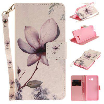 Cover Case for Samsung Galaxy J5 2017 Magnolia PU+TPU Leather with Stand and Card Slots Magnetic Closure