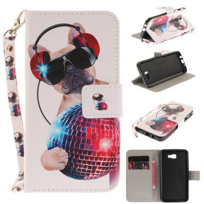 Cover Case for Samsung Galaxy J5 Prime Fashion Dog PU+TPU Leather with Stand and Card Slots Magnetic Closure
