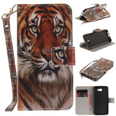 Cover Case for Samsung Galaxy J5 Prime Manchurian Tiger PU+TPU Leather with Stand and Card Slots Magnetic Closure