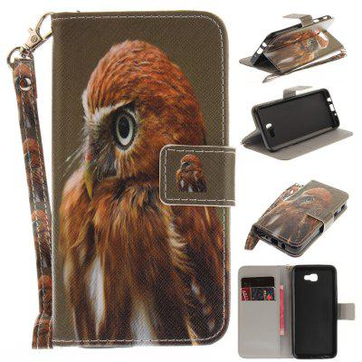 Cover Case for Samsung Galaxy J5 Prime Young Eagles PU+TPU Leather with Stand and Card Slots Magnetic Closure