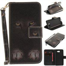 Cover Case for Samsung Galaxy J5 Prime Mystery Cat PU+TPU Leather with Stand and Card Slots Magnetic Closure