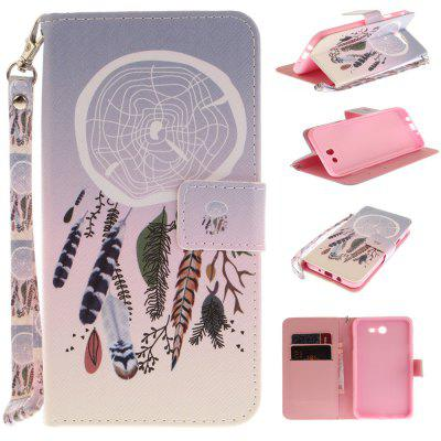 Cover Case for Samsung Galaxy J7 2017 Color bells PU+TPU Leather with Stand and Card Slots Magnetic Closure