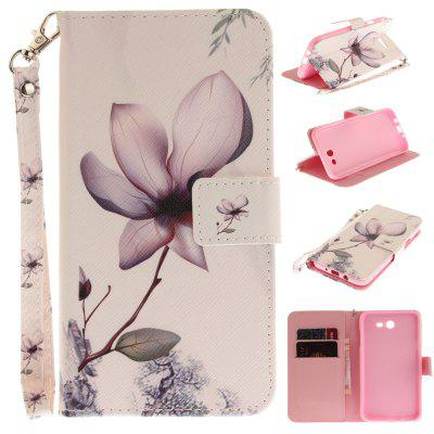 Cover Case for Samsung Galaxy J7 2017 Magnolia PU+TPU Leather with Stand and Card Slots Magnetic Closure