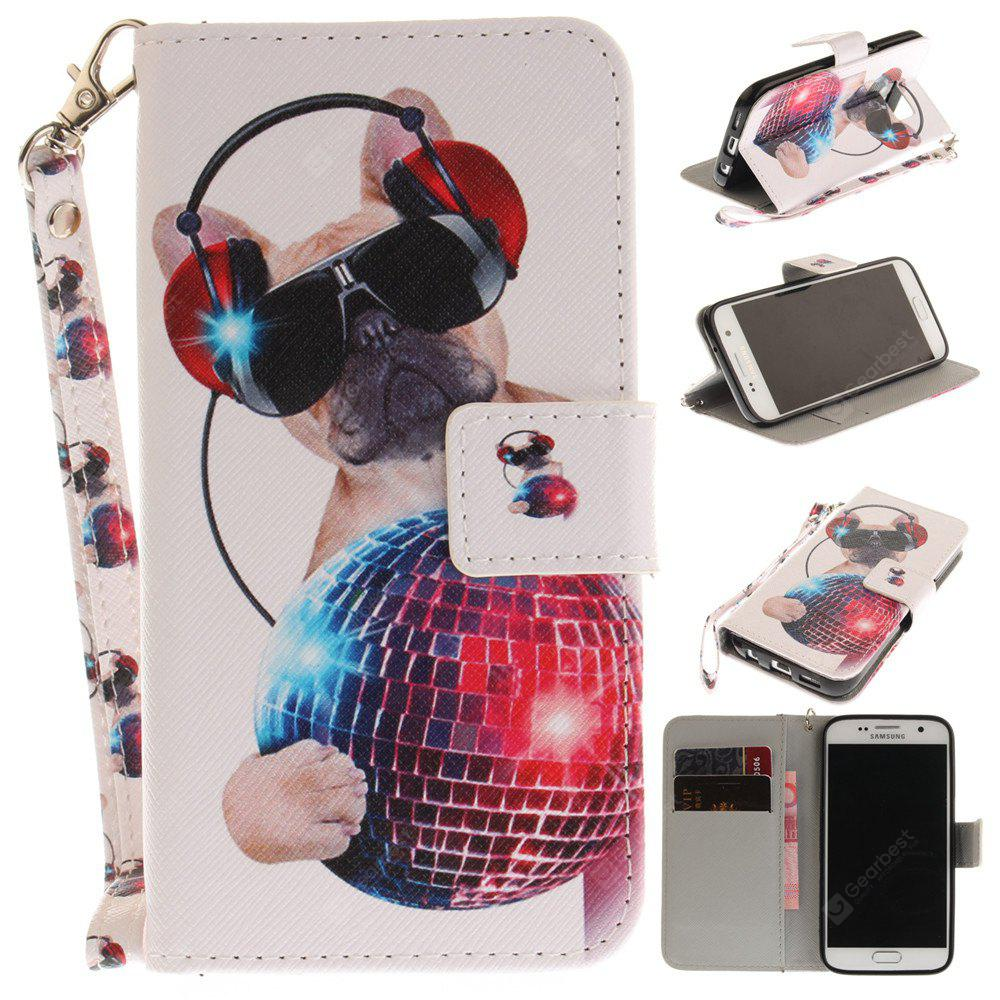 Cover Case for Samsung Galaxy S7 Fashion Dog PU+TPU Leather with Stand and Card Slots Magnetic Closure
