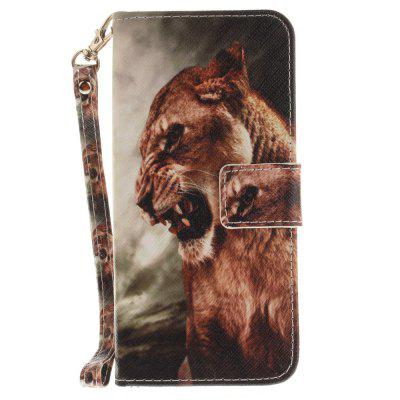 Cover Case for Samsung Galaxy S8 A Male Lion PU+TPU Leather with Stand and Card Slots Magnetic Closure cover case for samsung galaxy s8 young eagles pu tpu leather with stand and card slots magnetic closure