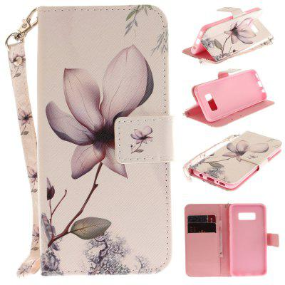 Cover Case for Samsung Galaxy S8 Magnolia Tigers PU+TPU Leather with Stand and Card Slots Magnetic Closure