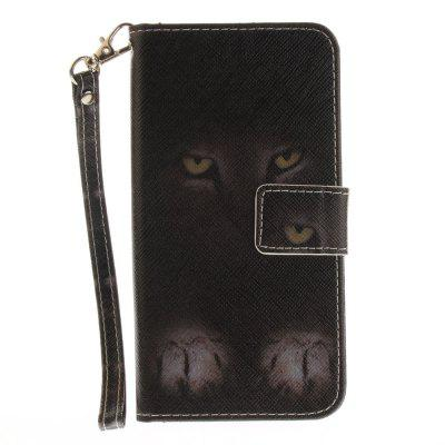 Cover Case for Huawei P10 Lite Mystery Cat PU+TPU Leather with Stand and Card Slots Magnetic Closure cover case for huawei p10 lite half a face of a cat pu tpu leather with stand and card slots magnetic closure