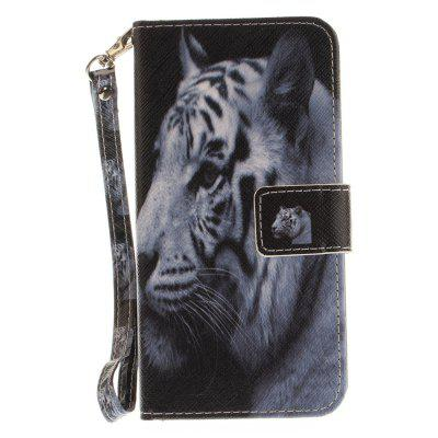 Cover Case for Huawei P10 Lite The White Tiger PU+TPU Leather with Stand and Card Slots Magnetic Closure mediapad m3 lite 8 0 skin ultra slim cartoon stand pu leather case cover for huawei mediapad m3 lite 8 0 cpn w09 cpn al00 8