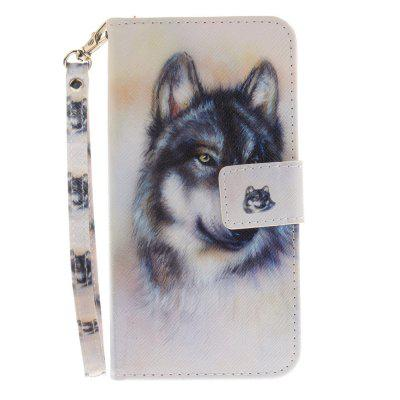 Cover Case for Huawei P10 Lite Wolf PU+TPU Leather with Stand and Card Slots Magnetic Closure mediapad m3 lite 8 0 skin ultra slim cartoon stand pu leather case cover for huawei mediapad m3 lite 8 0 cpn w09 cpn al00 8
