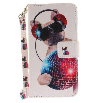 Cover Case for Huawei P10 Lite Fashion Dog PU+TPU Leather with Stand and Card Slots Magnetic Closure cover case for huawei p10 lite half a face of a cat pu tpu leather with stand and card slots magnetic closure