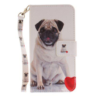Cover Case for Huawei P10 Lite Pug PU+TPU Leather with Stand and Card Slots Magnetic Closure mediapad m3 lite 8 0 skin ultra slim cartoon stand pu leather case cover for huawei mediapad m3 lite 8 0 cpn w09 cpn al00 8
