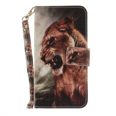 Cover Case for Huawei P10 Lite A Male Lion PU+TPU Leather with Stand and Card Slots Magnetic Closure mediapad m3 lite 8 0 skin ultra slim cartoon stand pu leather case cover for huawei mediapad m3 lite 8 0 cpn w09 cpn al00 8