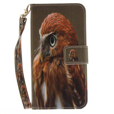 Cover Case for Huawei P10 Lite Young Eagles PU+TPU Leather with Stand and Card Slots Magnetic Closure cover case for huawei p10 lite half a face of a cat pu tpu leather with stand and card slots magnetic closure