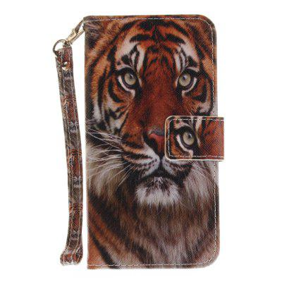 Cover Case for Huawei P10 Lite Manchurian Tiger PU+TPU Leather with Stand and Card Slots Magnetic Closure cover case for huawei p10 lite half a face of a cat pu tpu leather with stand and card slots magnetic closure
