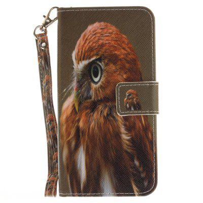 Cover Case for Huawei P8 Lite 2017 Young Eagles PU+TPU Leather with Stand and Card Slots Magnetic Closure cover case for huawei p10 lite half a face of a cat pu tpu leather with stand and card slots magnetic closure