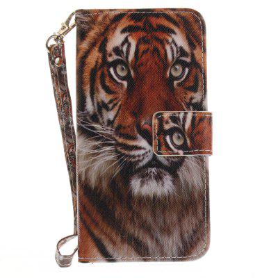 Cover Case for Huawei P8 Lite 2017 Manchurian Tiger PU+TPU Leather with Stand and Card Slots Magnetic Closure cover case for huawei p10 lite half a face of a cat pu tpu leather with stand and card slots magnetic closure