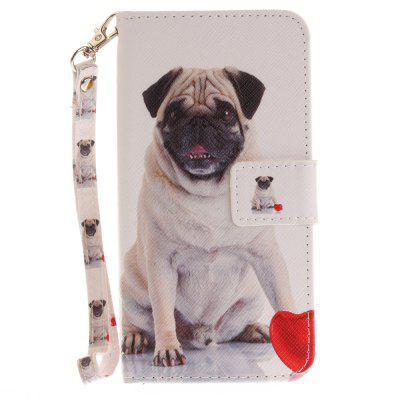 Cover Case for Huawei P8 Lite 2017 Pug PU+TPU Leather with Stand and Card Slots Magnetic Closure аксессуар защитное стекло huawei y5 ii zibelino tg 0 33mm 2 5d ztg huw y5 ii
