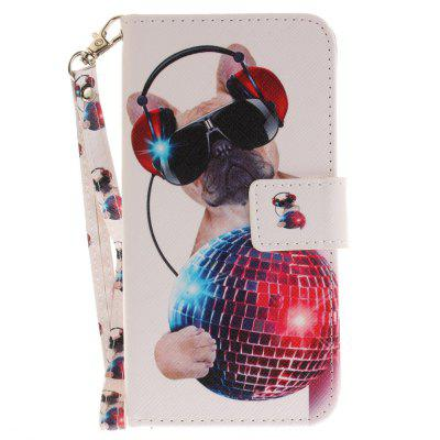 Cover Case for Huawei P8 Lite 2017 Fashion Dog PU+TPU Leather with Stand and Card Slots Magnetic Closure cover case for huawei p10 lite half a face of a cat pu tpu leather with stand and card slots magnetic closure