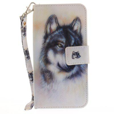 Cover Case for Huawei P8 Lite 2017 Wolf PU+TPU Leather with Stand and Card Slots Magnetic Closure huawei p8 lite