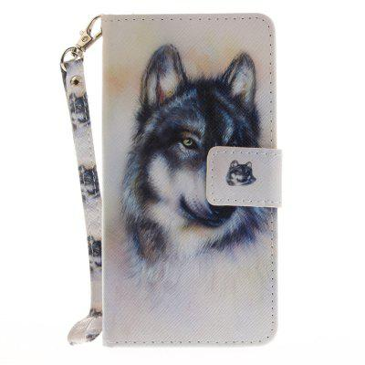 Cover Case for Huawei P8 Lite Wolf PU+TPU Leather with Stand and Card Slots Magnetic Closure luxury pu leather case cover for huawei mediapad m3 lite 8 0 cpn w09 cpn al00 8 tablet flip wallet stand cover with card slots